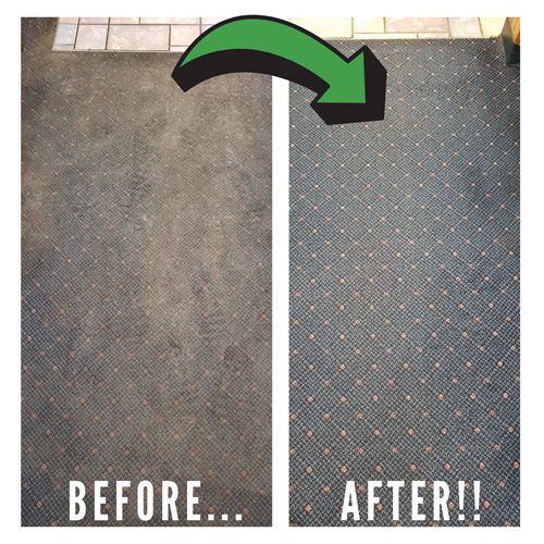 Commercial Carpet Cleaning Before and After Results